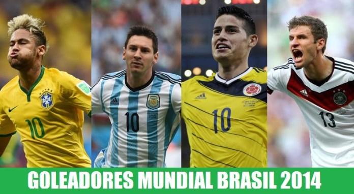 Goleadores Mundial Brasil 2014