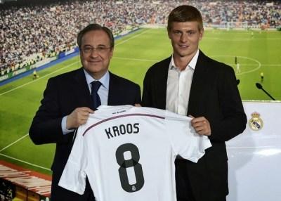 La presentación de Toni Kroos en el Bernabéu real madrid
