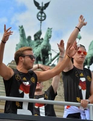 El Campeón Mundial llega a Alemania: imágenes