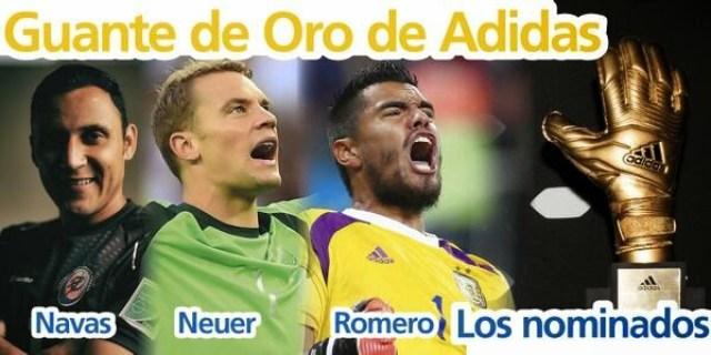 Candidatos Guante de Oro Mundial Brasil 2014 Navas, neuer y romero