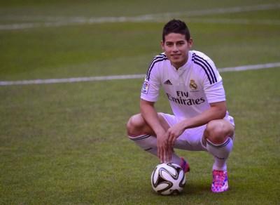 La presentación de James Rodríguez en el Bernabéu real madrid