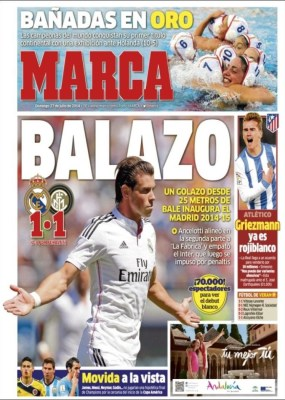 Portada Marca: pretemporada Real Madrid 2014-2015