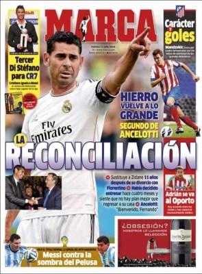 Hierro vuelve Madrid Portada Marca