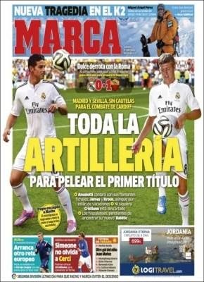 Portada Marca: el Madrid se prepara para la Supercopa