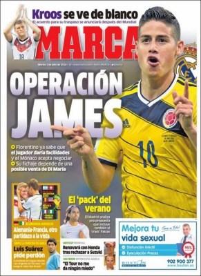 Portada Marca: El Madrid quiere a James Rodríguez