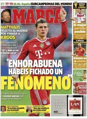 Portada Marca: Kross ficha por el Madrid