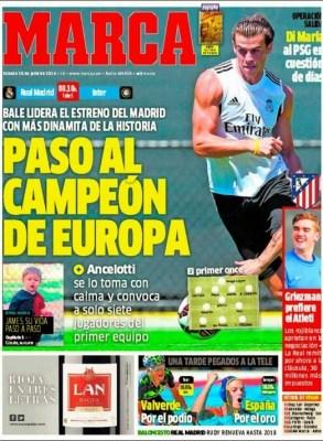 Portada Marca: comienza la pretemporada del Real Madrid