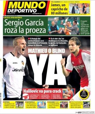 Portada Mundo Deportivo: James Rodríguez ficha por el Real Madrid