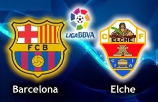 Alineación y la previa Barcelona-Elche. Jornada 1