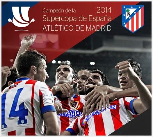imágenes del Atlético Madrid Campeón Supercopa de España 2014