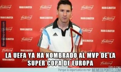 Los mejores memes y chistes: Supercopa 2014messi mvp uefa