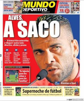 Portada Mundo Deportivo: Dani Alves