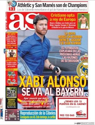 Portada AS: Xabi Alonso al Bayern Munich