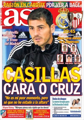 Portada AS: Supercopa Real Madrid vs. Sevilla