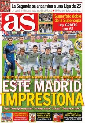 Portada AS: la prensa se rinde ante el Real Madrid