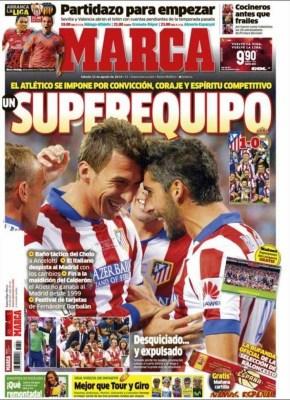 Portada Marca: El Atlético Madrid Campeón Supercopa España 2014