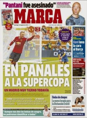 Portada Marca: Manchester 3-Madrid 1
