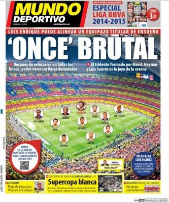Portada Mundo Deportivo: el once ideal del Barça