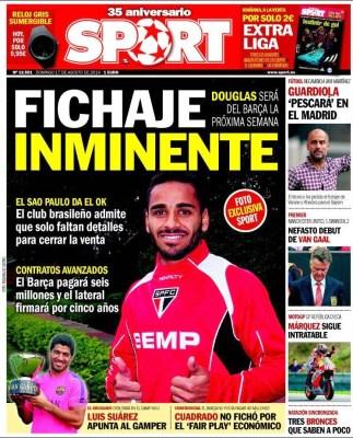 Portada Sport: Fichaje inminente de Douglas