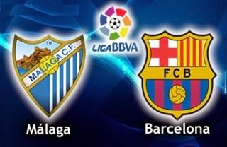 Alineación y la previa Málaga-Barcelona. Jornada 5