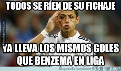 chicharito hace dos goles memes cargadas bromas deportivo coruña real madrid liga española 2014