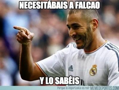 Los mejores memes del derbi Real Madrid-Atlético: Liga Española benzema falcao