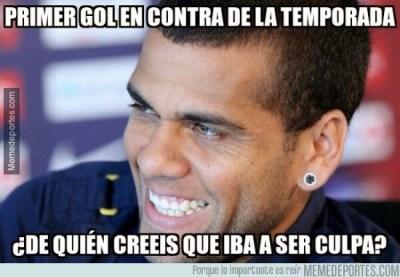 Los mejores memes del PSG-Barcelona; Champions 2014  dani alves