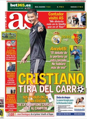 Portada AS: Vuelve la Champions League