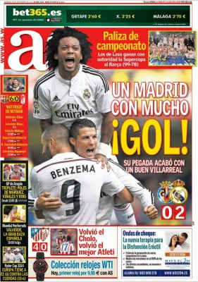 Portada AS: Madrid goelador