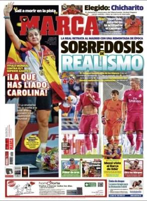 Portada Marca: la Real Sociedad le remonta el partido al Madrid