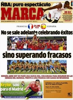 Portada Marca: Hoy Francia vs. España