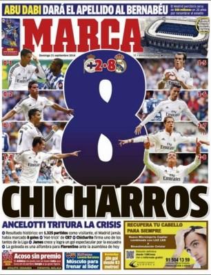 Portada Marca: 8 Chicharros del Real Madrid al Depor