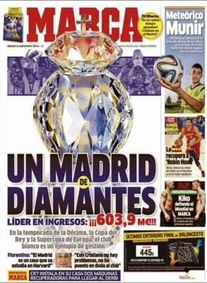 Portada Marca: los ingresos millonarios del Real Madrid