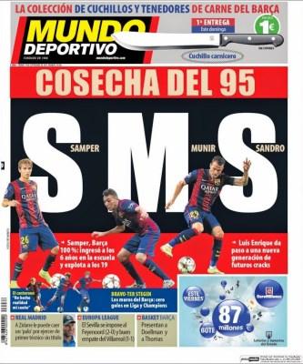 Portada Mundo deportivo: SMS