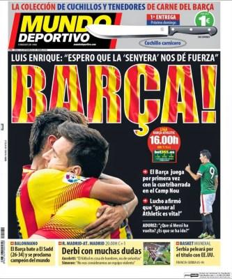 Portada Mundo Deportivo: Barça vs. Athletic