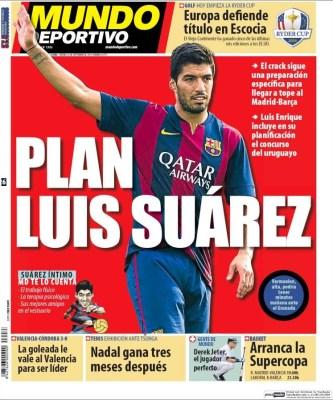 Portada Mundo Deportivo: Luis Suarez