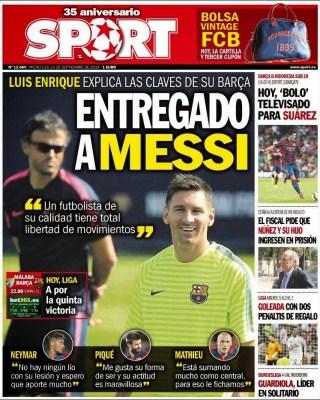 Portada Sport: Leo Messi