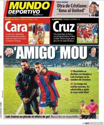 Portada Mundo Deportivo: Mou elogia a Lucho