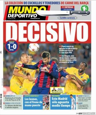 Portada Mundo Deportivo: Gerard Piqué