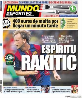 Portada Mundo Deportivo: Rakitic