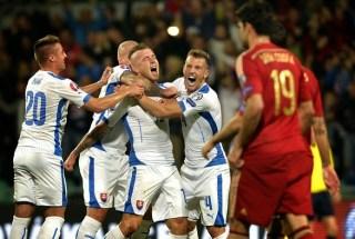 Eslovaquia 2-España 1. Eliminatoria Eurocopa 2016