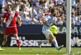 Málaga 4-Rayo Vallecano 0. Jornada 9 Liga Española