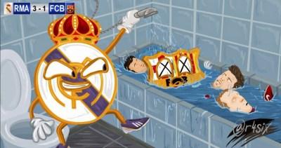 Los memes del clásico Real Madrid-Barcelona: Jornada 9
