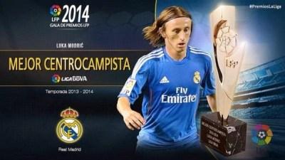 Mejor centrocampista, Luka Modric: Premios LFP 2013-2014