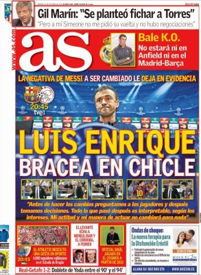 Portada AS: Luis Enrique