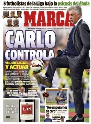 Portada Marca: superclásico Madrid-Barça 2014 carlo ancelotti