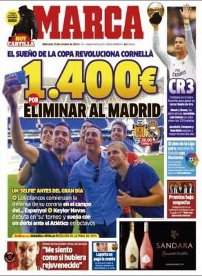 Portada Marca: Copa del Rey Cornella vs. Real Madrid