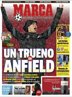 Portada Marca: Liverpool vs. Real Madrid ronaldo