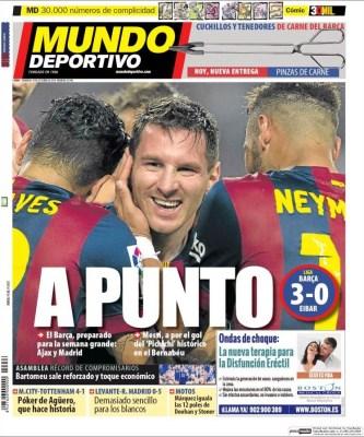 Portada Mundo Deportivo: El Barça a punto para el clásico