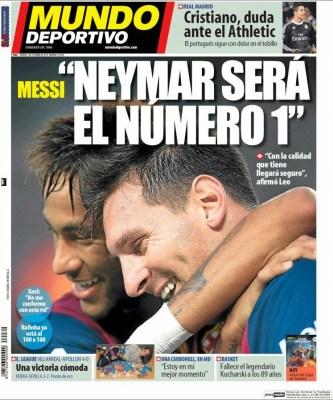 Portada Mundo Deportivo: Messi y Neymar
